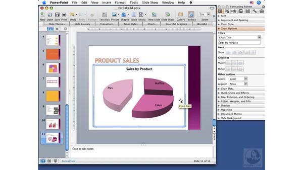 Editing charts and data: PowerPoint 2008 for Mac Essential Training