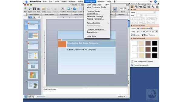 Creating custom slideshows: PowerPoint 2008 for Mac Essential Training