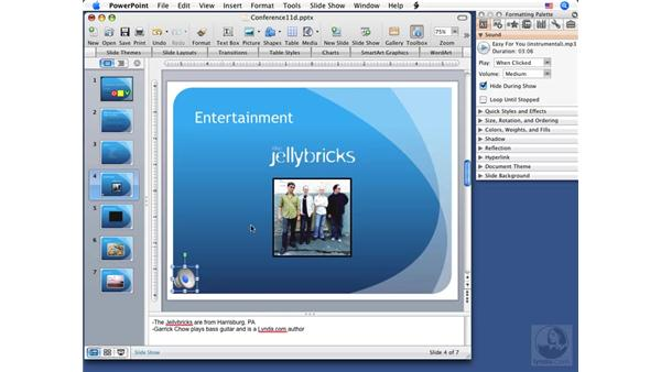 Using hyperlinks and action buttons: PowerPoint 2008 for Mac Essential Training