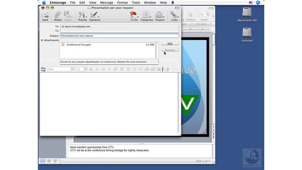 Emailing presentations: PowerPoint 2008 for Mac Essential Training