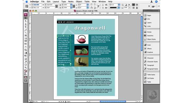 Control panel shortcuts: InDesign CS3 Beyond the Basics