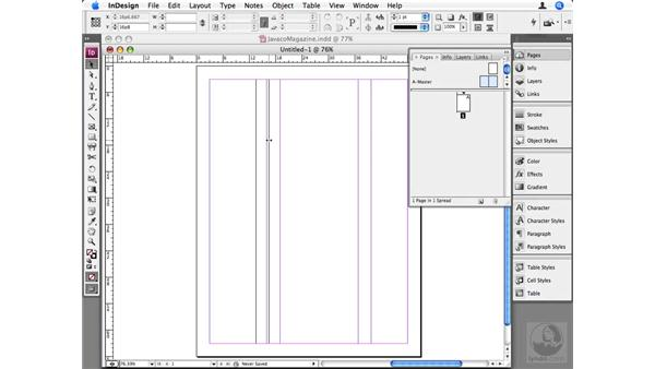 Working with column guides: InDesign CS3 Beyond the Basics