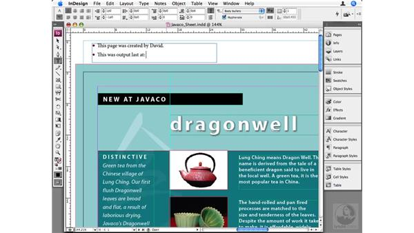 Understanding slugs: InDesign CS3 Beyond the Basics