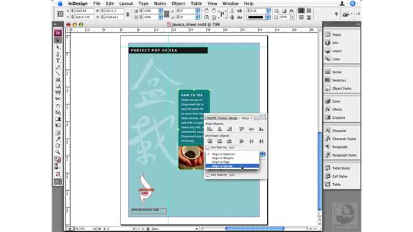 Aligning objects to the page: InDesign CS3 Beyond the Basics