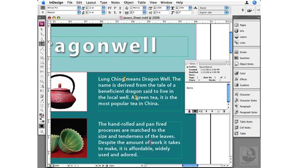 Adding and using Notes: InDesign CS3 Beyond the Basics
