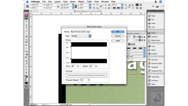Custom stroke styles: InDesign CS3 Beyond the Basics