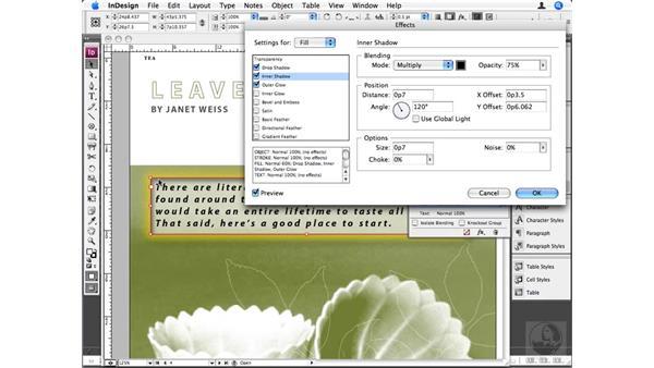 Advanced effects: InDesign CS3 Beyond the Basics