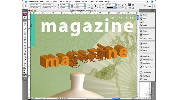 Using Illustrator and InDesign together: InDesign CS3 Beyond the Basics
