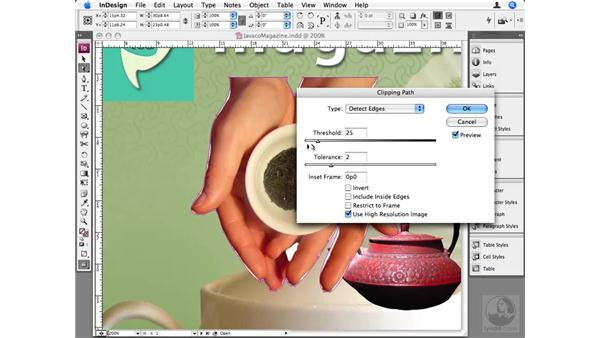 Advanced clipping paths: InDesign CS3 Beyond the Basics
