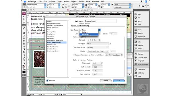 Advanced paragraph numbering: InDesign CS3 Beyond the Basics