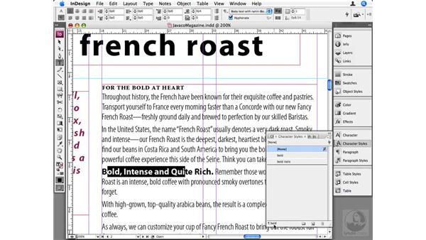 Advanced text styling: InDesign CS3 Beyond the Basics