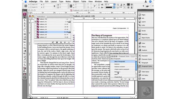 Synchronizing documents in a book: InDesign CS3 Beyond the Basics