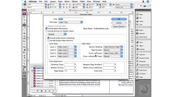 Generating an index: InDesign CS3 Beyond the Basics