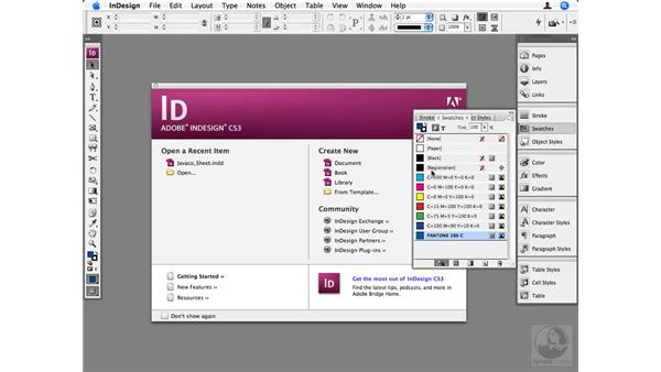 Setting up Swatch and Style defaults: InDesign CS3 Beyond the Basics