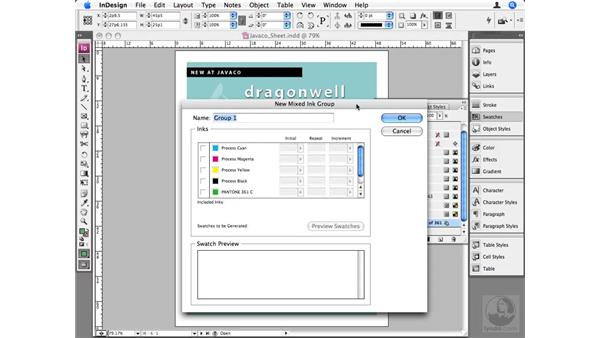 Mixed ink colors: InDesign CS3 Beyond the Basics