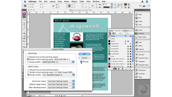 Assign vs. Convert to Profile: InDesign CS3 Beyond the Basics