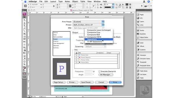 Managing color when printing: InDesign CS3 Beyond the Basics