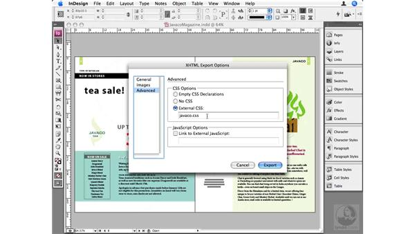 XHTML exports: InDesign CS3 Beyond the Basics