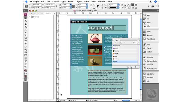 Structuring InDesign content to use XML: InDesign CS3 Beyond the Basics