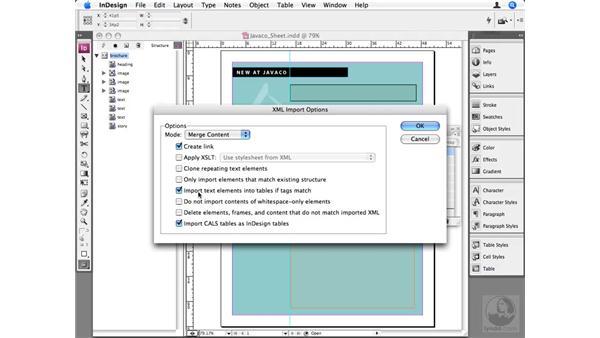 Importing XML: InDesign CS3 Beyond the Basics