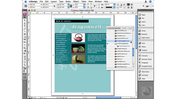Using the scripts that come with InDesign: InDesign CS3 Beyond the Basics