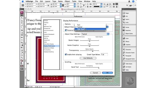 Display Performance preferences: InDesign CS3 Beyond the Basics