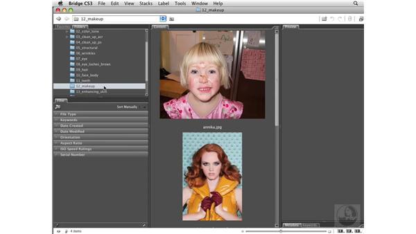 Using the exercise files: Photoshop CS3 Portrait Retouching Essentials
