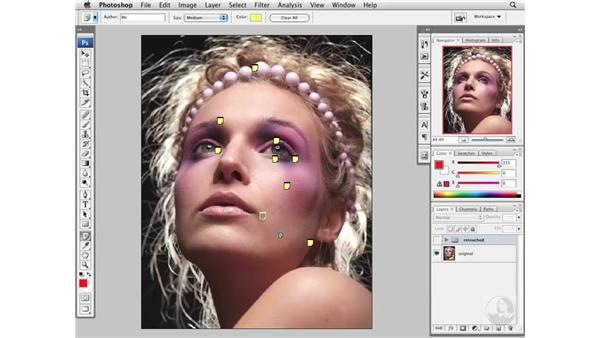 Retouching roadmap: Making notes: Photoshop CS3 Portrait Retouching Essentials