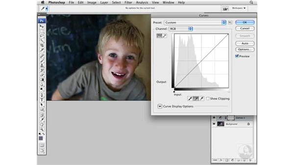 White balancing with Curves: Photoshop CS3 Portrait Retouching Essentials