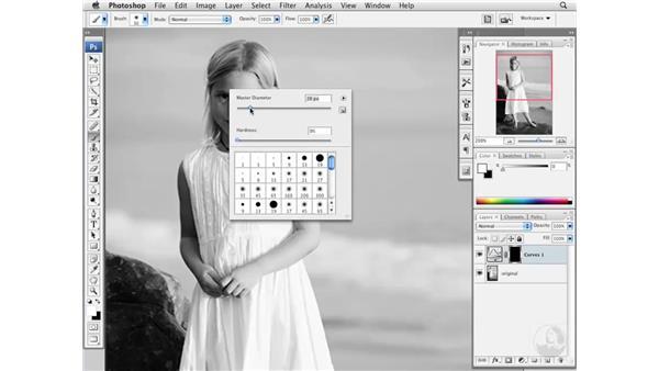 Brightening dark tones: Photoshop CS3 Portrait Retouching Essentials