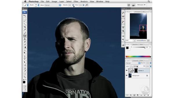 Darkening bright tones: Photoshop CS3 Portrait Retouching Essentials