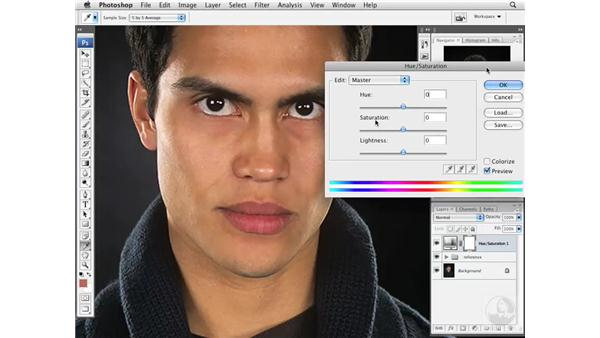 Reducing subtle red skin tones: Photoshop CS3 Portrait Retouching Essentials