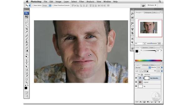 Reducing moderate red skin tones: Photoshop CS3 Portrait Retouching Essentials