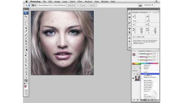 Color-correcting light skin tones: Photoshop CS3 Portrait Retouching Essentials