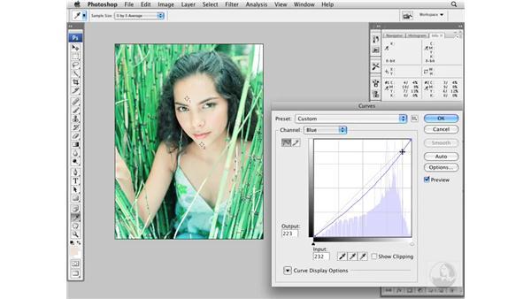 Color-correcting medium light skin tones: Photoshop CS3 Portrait Retouching Essentials