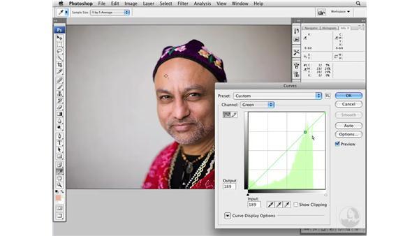 Color-correcting medium dark skin tones: Photoshop CS3 Portrait Retouching Essentials