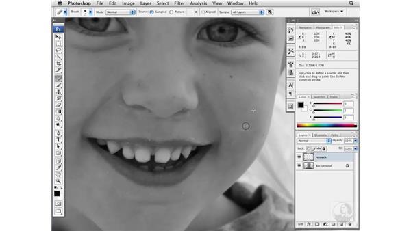 Cleaning up faces: Photoshop CS3 Portrait Retouching Essentials