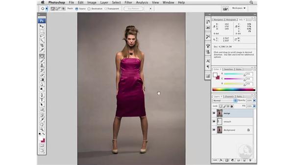 Improving studio backdrops: Photoshop CS3 Portrait Retouching Essentials