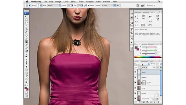 Removing wrinkles in garments: Photoshop CS3 Portrait Retouching Essentials