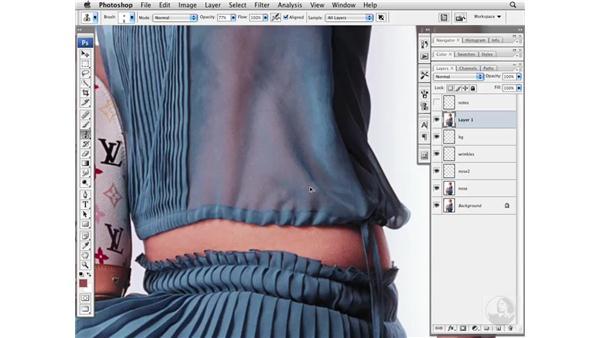 Cleaning project 3: Fashion image: Photoshop CS3 Portrait Retouching Essentials