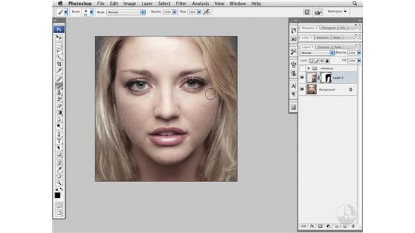 Creating visual symmetry: Photoshop CS3 Portrait Retouching Essentials