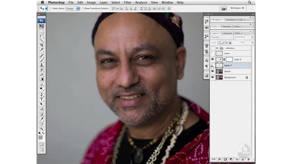 Improving the shape of eyes, ears, noses, and faces: Photoshop CS3 Portrait Retouching Essentials