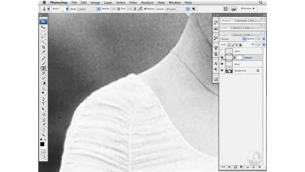 Tailor-fitting a wedding dress: Photoshop CS3 Portrait Retouching Essentials