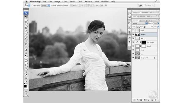 Reducing the stomach size: Photoshop CS3 Portrait Retouching Essentials