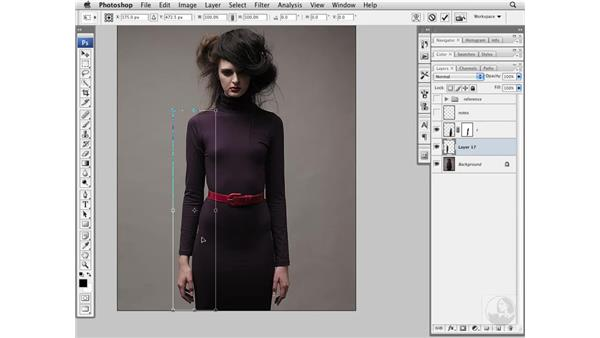 Thinning the waist and legs: Photoshop CS3 Portrait Retouching Essentials