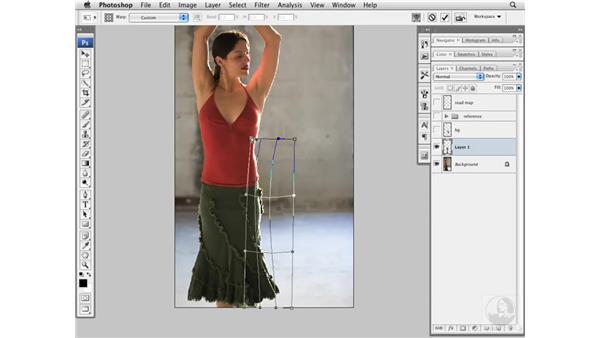 Flamenco project pt. 1: Thinning the waist: Photoshop CS3 Portrait Retouching Essentials