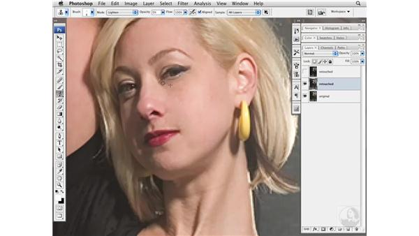 Removing face and garment wrinkles: Photoshop CS3 Portrait Retouching Essentials