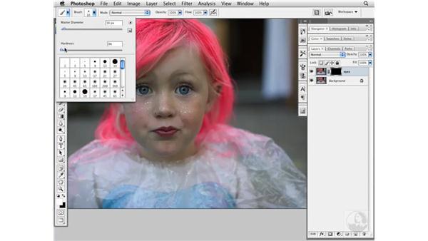 Changing eye color: Photoshop CS3 Portrait Retouching Essentials
