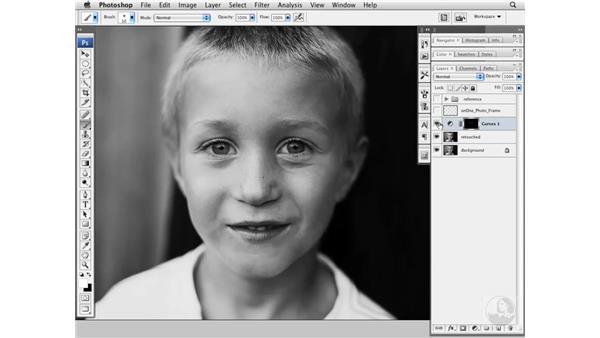 Brightening eyes with Curves: Photoshop CS3 Portrait Retouching Essentials