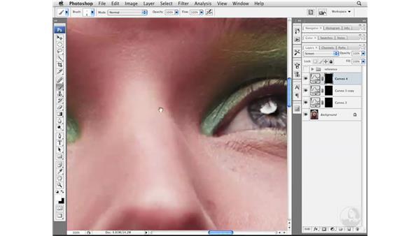 Advanced eye tone and color enhancements : Photoshop CS3 Portrait Retouching Essentials